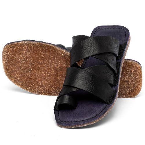 Laranja_Lima_Shoes_Sapatos_Femininos_Sandalia_Rasteira_Flat_em_Couro_Preto_-_Codigo_-_141201_2