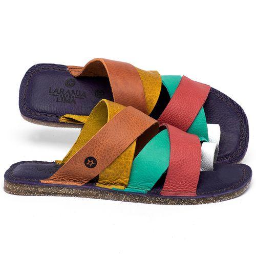 Laranja_Lima_Shoes_Sapatos_Femininos_Sandalia_Rasteira_Flat_em_Couro_Colorido_-_Codigo_-_141201_1