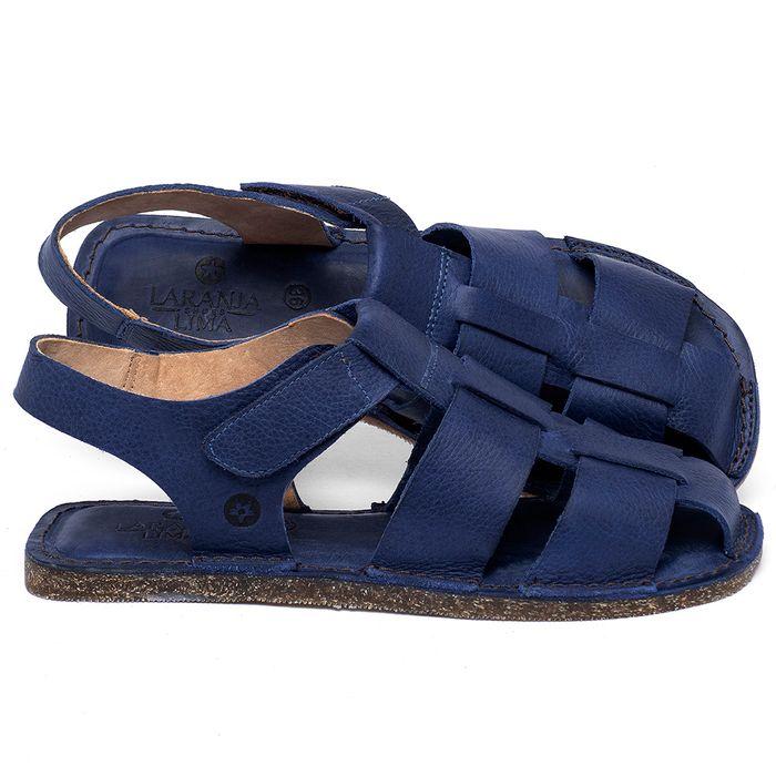 Laranja_Lima_Shoes_Sapatos_Femininos_Sandalia_Rasteira_Flat_em_Couro_Azul_-_Codigo_-_141202_1