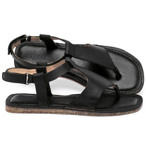 Laranja_Lima_Shoes_Sapatos_Femininos_Sandalia_Rasteira_Flat_em_Couro_Preto_-_Codigo_-_141212_1