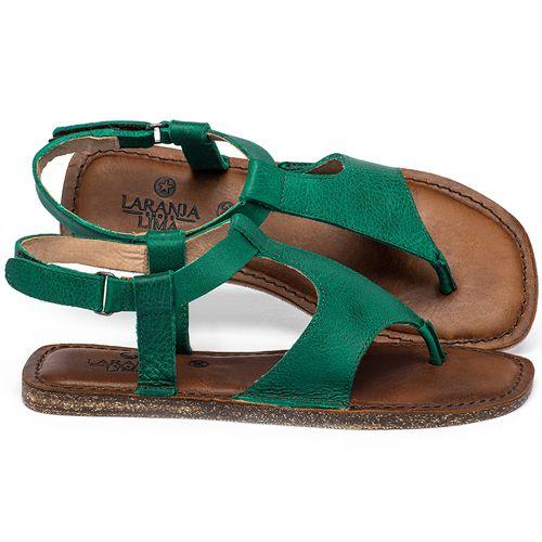 Laranja_Lima_Shoes_Sapatos_Femininos_Sandalia_Rasteira_Flat_em_Couro_Verde_-_Codigo_-_141212_1