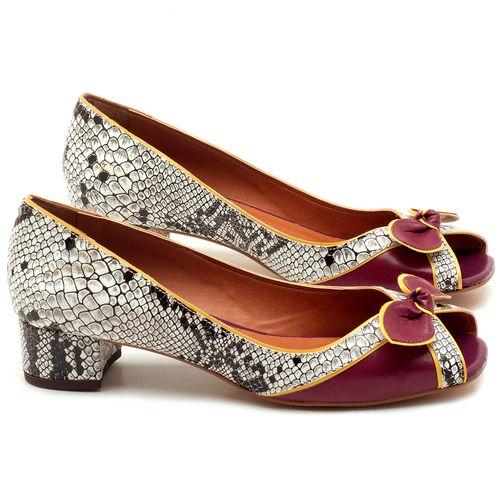 Laranja_Lima_Shoes_Sapatos_Femininos_Peep_Toe_Laranja_Lima_Shoes_Salto_de_4_cm_em_Couro_Cobra_-_Codigo_-_3473_1