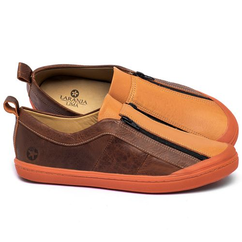 Laranja_Lima_Shoes_Sapatos_Femininos_Tenis_Cano_Baixo_em_Couro_Laranja_-_Codigo_-_9509_1