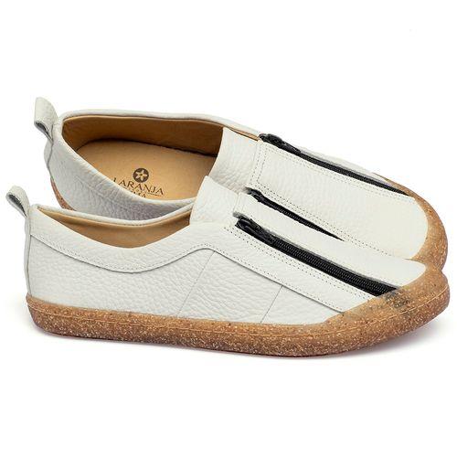 Laranja_Lima_Shoes_Sapatos_Femininos_Tenis_Cano_Baixo_em_Couro_Off-White_-_Codigo_-_9509_1