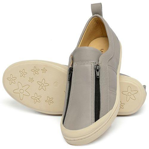 Laranja_Lima_Shoes_Sapatos_Femininos_Tenis_Cano_Baixo_em_Couro_Cinza_-_Codigo_-_9509_2