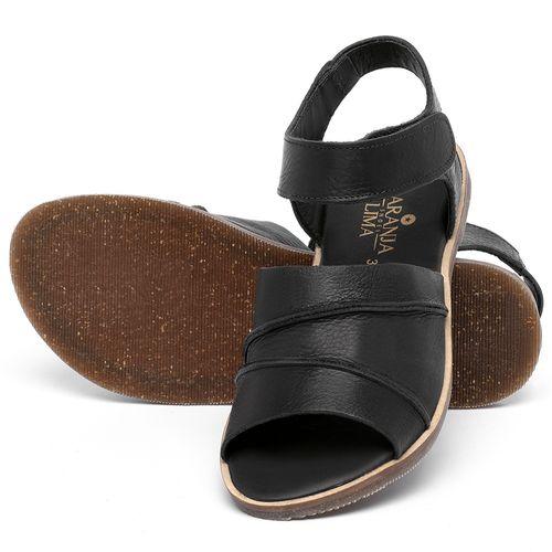Laranja_Lima_Shoes_Sapatos_Femininos_Sandalia_Rasteira_Flat_em_Couro_Preto_-_Codigo_-_137330_2