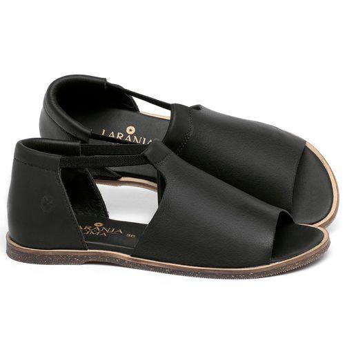 Laranja_Lima_Shoes_Sapatos_Femininos_Sandalia_Rasteira_Flat_em_Couro_Preto_-_Codigo_-_137333_1