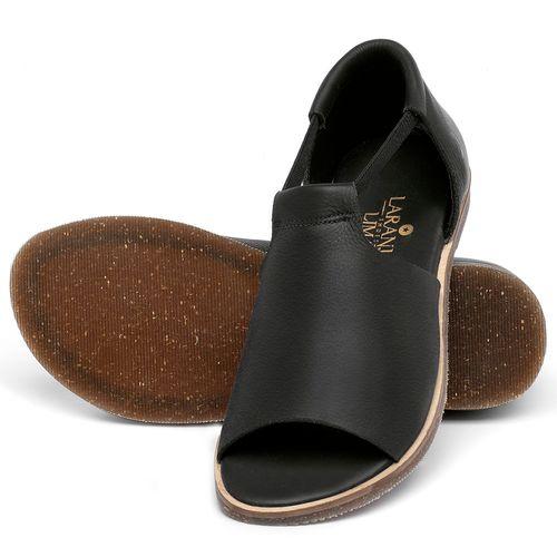 Laranja_Lima_Shoes_Sapatos_Femininos_Sandalia_Rasteira_Flat_em_Couro_Preto_-_Codigo_-_137333_2