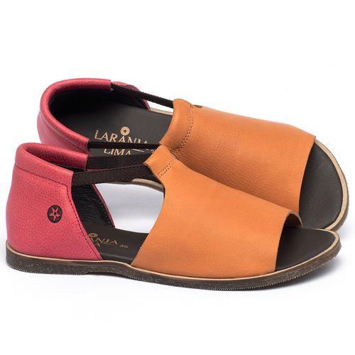 Laranja_Lima_Shoes_Sapatos_Femininos_Sandalia_Rasteira_Flat_em_Couro_Bicolor_-_Codigo_-_137333_1