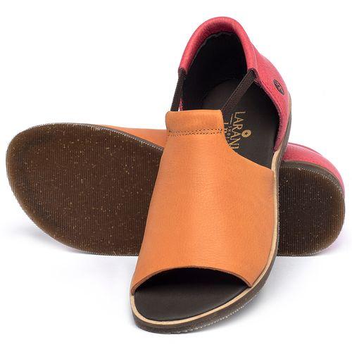 Laranja_Lima_Shoes_Sapatos_Femininos_Sandalia_Rasteira_Flat_em_Couro_Bicolor_-_Codigo_-_137333_2
