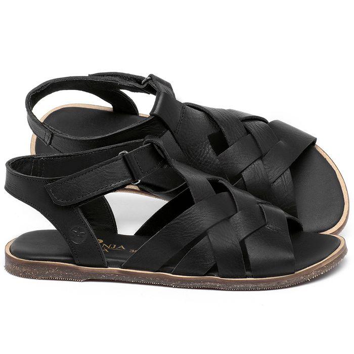 Laranja_Lima_Shoes_Sapatos_Femininos_Sandalia_Rasteira_Flat_em_Couro_Preto_-_Codigo_-_137336_1
