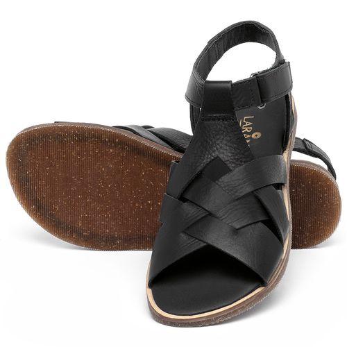 Laranja_Lima_Shoes_Sapatos_Femininos_Sandalia_Rasteira_Flat_em_Couro_Preto_-_Codigo_-_137336_2