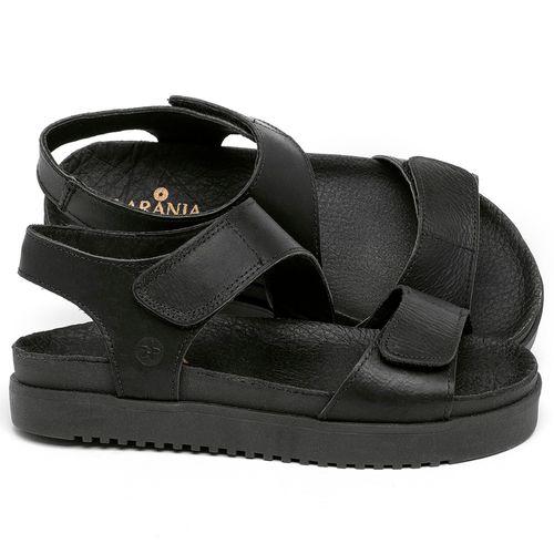 Laranja_Lima_Shoes_Sapatos_Femininos_Sandalia_Rasteira_Flat_em_Couro_Preto_-_Codigo_-_137362_1