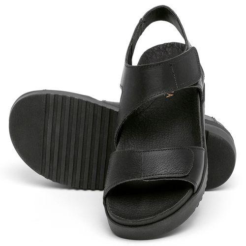 Laranja_Lima_Shoes_Sapatos_Femininos_Sandalia_Rasteira_Flat_em_Couro_Preto_-_Codigo_-_137362_2