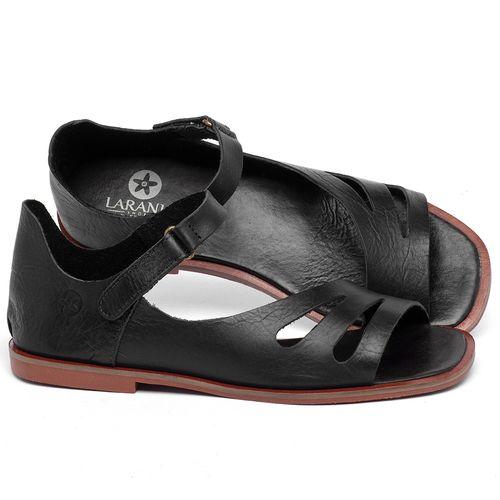 Laranja_Lima_Shoes_Sapatos_Femininos_Sandalia_Rasteira_Flat_em_Couro_Preto_-_Codigo_-_136114_1