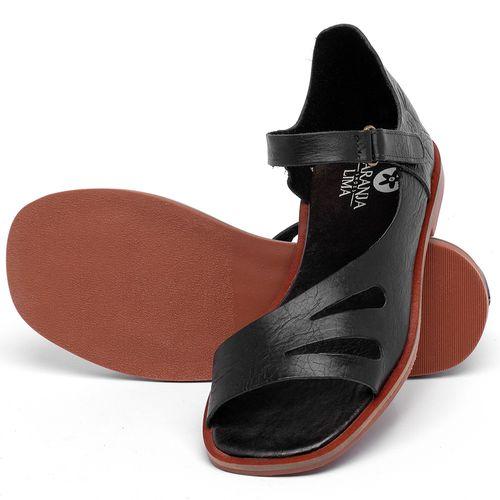 Laranja_Lima_Shoes_Sapatos_Femininos_Sandalia_Rasteira_Flat_em_Couro_Preto_-_Codigo_-_136114_2