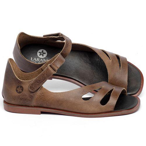 Laranja_Lima_Shoes_Sapatos_Femininos_Sandalia_Rasteira_Flat_em_Couro_Marrom_-_Codigo_-_136114_1