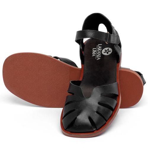 Laranja_Lima_Shoes_Sapatos_Femininos_Sandalia_Rasteira_Flat_em_Couro_Preto_-_Codigo_-_136105_2