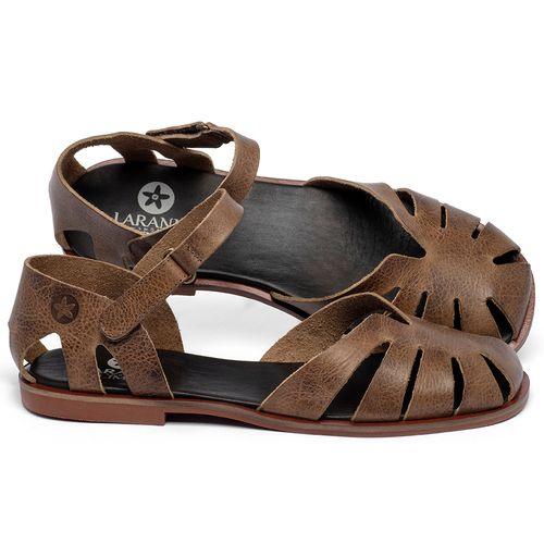 Laranja_Lima_Shoes_Sapatos_Femininos_Sandalia_Rasteira_Flat_em_Couro_Marrom_-_Codigo_-_136105_1