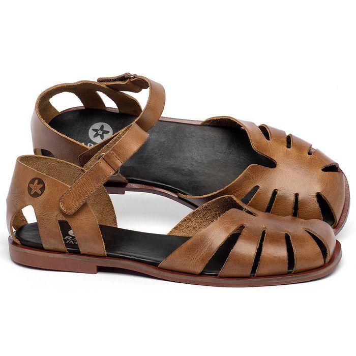 Laranja_Lima_Shoes_Sapatos_Femininos_Sandalia_Rasteira_Flat_em_Couro_Caramelo_-_Codigo_-_136105_1