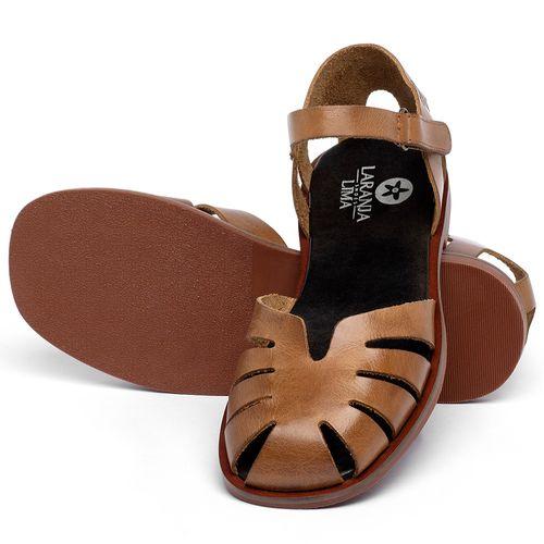 Laranja_Lima_Shoes_Sapatos_Femininos_Sandalia_Rasteira_Flat_em_Couro_Caramelo_-_Codigo_-_136105_2