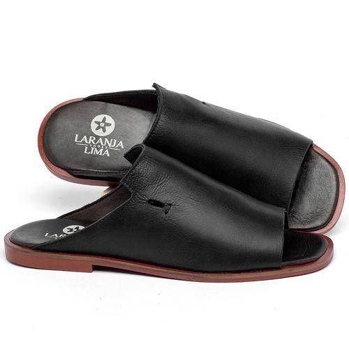 Laranja_Lima_Shoes_Sapatos_Femininos_Sandalia_Rasteira_Flat_em_Couro_Preto_-_Codigo_-_136115_1