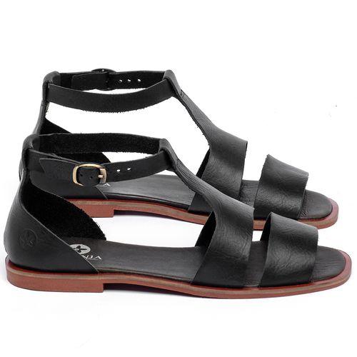 Laranja_Lima_Shoes_Sapatos_Femininos_Sandalia_Rasteira_Flat_em_Couro_Preto_-_Codigo_-_136107_1