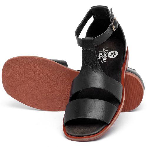 Laranja_Lima_Shoes_Sapatos_Femininos_Sandalia_Rasteira_Flat_em_Couro_Preto_-_Codigo_-_136107_2