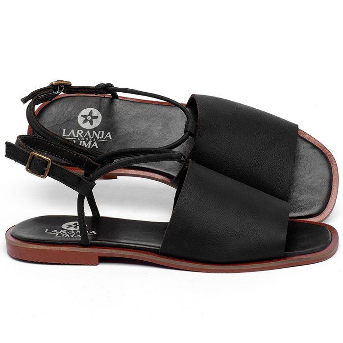 Laranja_Lima_Shoes_Sapatos_Femininos_Sandalia_Rasteira_Flat_em_Couro_Preto_-_Codigo_-_136108_1