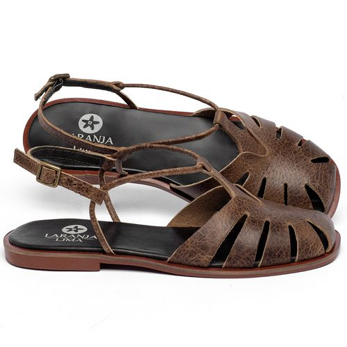 Laranja_Lima_Shoes_Sapatos_Femininos_Sandalia_Rasteira_Flat_em_Couro_Marrom_-_Codigo_-_136118_1