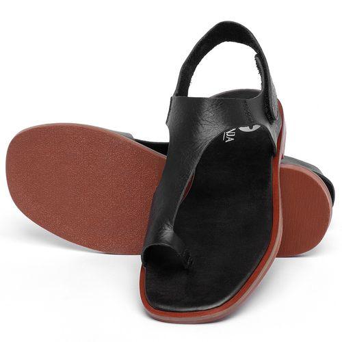 Laranja_Lima_Shoes_Sapatos_Femininos_Sandalia_Rasteira_Flat_em_Couro_Preto_-_Codigo_-_136109_2
