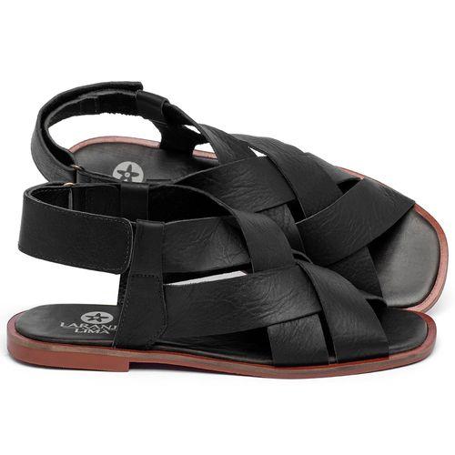 Laranja_Lima_Shoes_Sapatos_Femininos_Sandalia_Rasteira_Flat_em_Couro_Preto_-_Codigo_-_136119_1