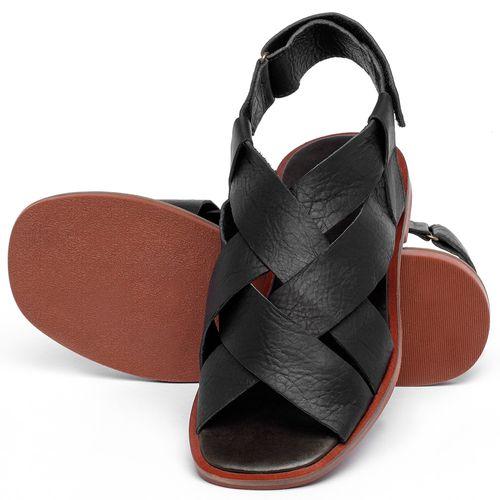Laranja_Lima_Shoes_Sapatos_Femininos_Sandalia_Rasteira_Flat_em_Couro_Preto_-_Codigo_-_136119_2