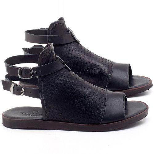 Laranja_Lima_Shoes_Sapatos_Femininos_Sandalia_Rasteira_Flat_em_Couro_Preto_-_Codigo_-_141098_1