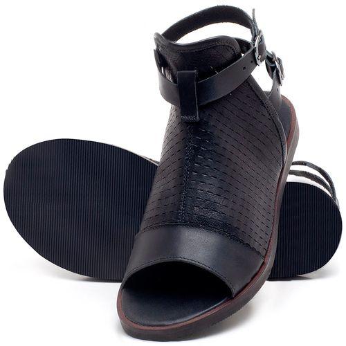Laranja_Lima_Shoes_Sapatos_Femininos_Sandalia_Rasteira_Flat_em_Couro_Preto_-_Codigo_-_141098_2