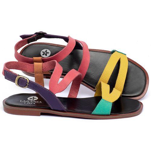 Laranja_Lima_Shoes_Sapatos_Femininos_Sandalia_Rasteira_Flat_em_Couro_Colorido_-_Codigo_-_136113_1