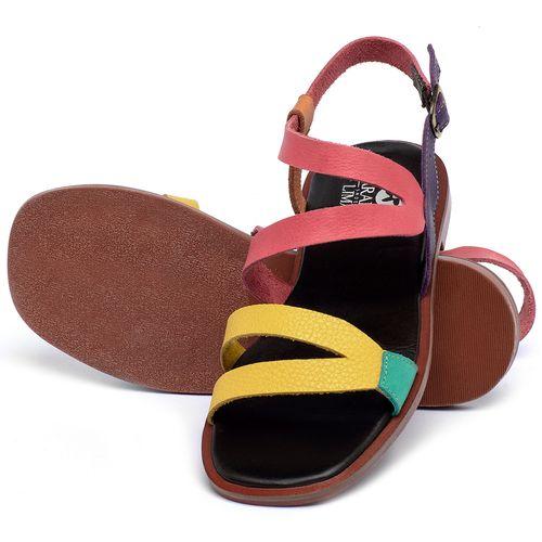 Laranja_Lima_Shoes_Sapatos_Femininos_Sandalia_Rasteira_Flat_em_Couro_Colorido_-_Codigo_-_136113_2