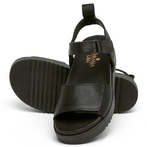 Laranja_Lima_Shoes_Sapatos_Femininos_Sandalia_Rasteira_Flat_em_Couro_Preto_-_Codigo_-_137354_2