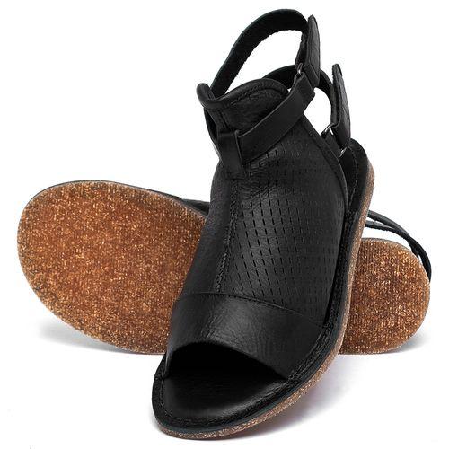 Laranja_Lima_Shoes_Sapatos_Femininos_Sandalia_Rasteira_Flat_em_Couro_Preto_-_Codigo_-_141221_2