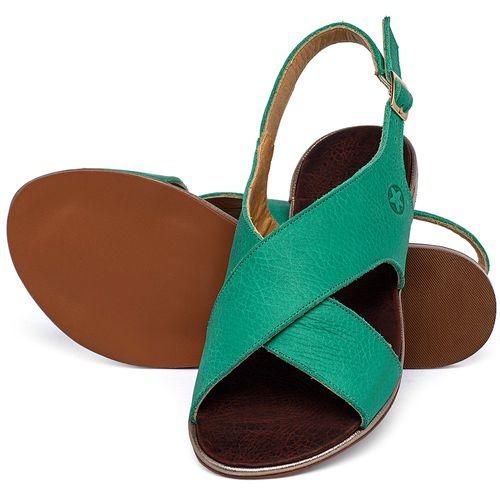 Laranja_Lima_Shoes_Sapatos_Femininos_Sandalia_Rasteira_Flat_em_Couro_Verde_-_Codigo_-_3728_2