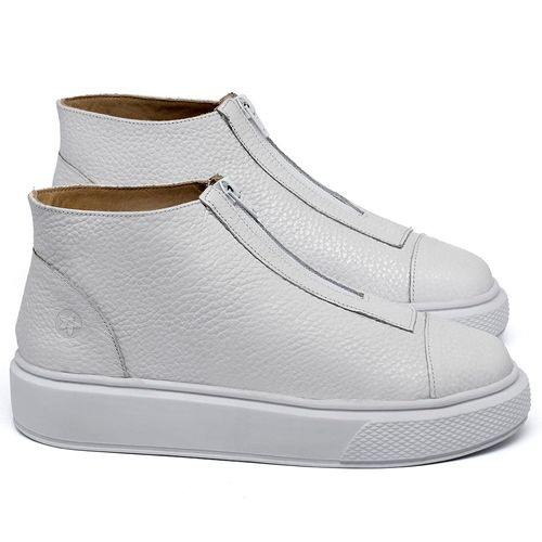 Laranja_Lima_Shoes_Sapatos_Femininos_Tenis_Cano_Alto_em_Couro_Branco_-_Codigo_-_3750_1
