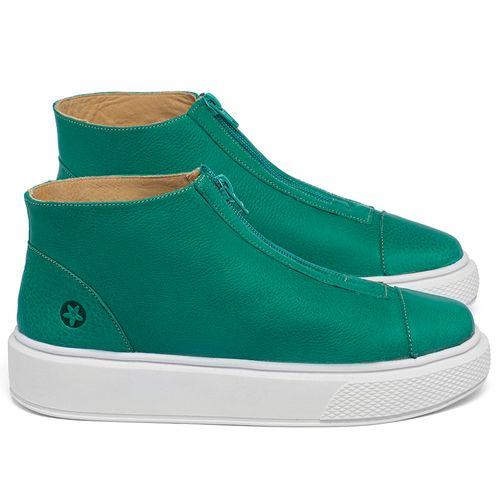 Laranja_Lima_Shoes_Sapatos_Femininos_Tenis_Cano_Alto_em_Couro_Verde_-_Codigo_-_3750_1