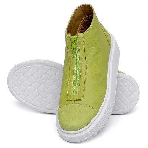 Laranja_Lima_Shoes_Sapatos_Femininos_Tenis_Cano_Alto_em_Couro_Verde_-_Codigo_-_3750_2