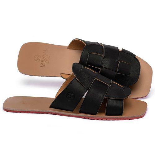 Laranja_Lima_Shoes_Sapatos_Femininos_Sandalia_Rasteira_Flat_em_Couro_Preto_-_Codigo_-_3760_1