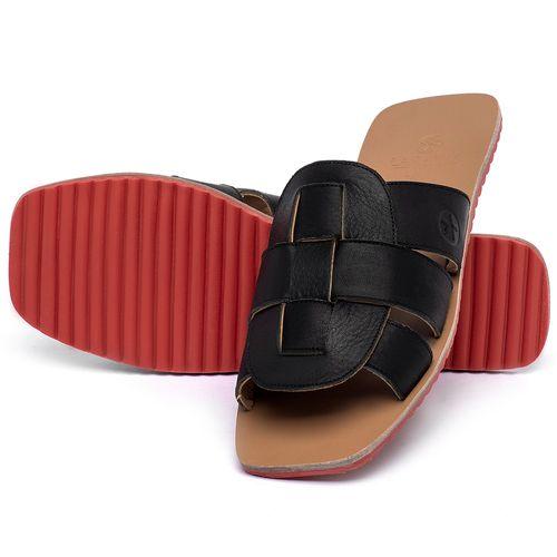 Laranja_Lima_Shoes_Sapatos_Femininos_Sandalia_Rasteira_Flat_em_Couro_Preto_-_Codigo_-_3760_2