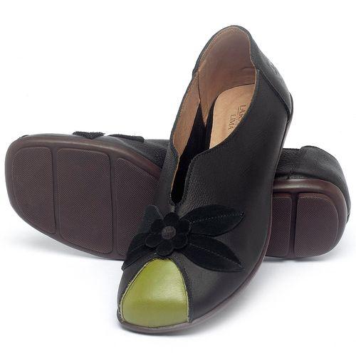 Laranja_Lima_Shoes_Sapatos_Femininos_Sapatilha_Bico_Quadrado_em_Couro_Preto_-_Codigo_-_9493_2