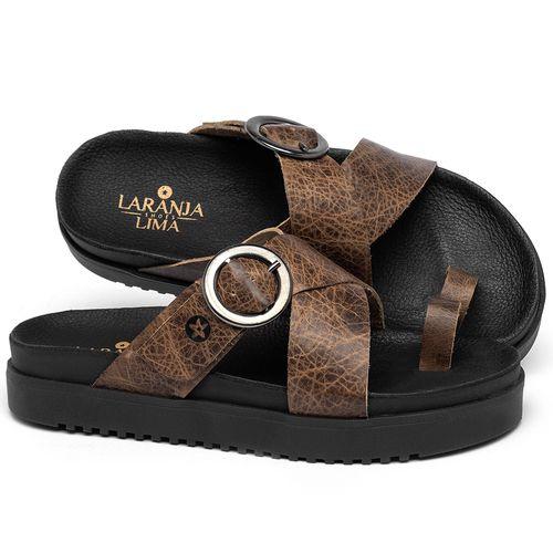 Laranja_Lima_Shoes_Sapatos_Femininos_Sandalia_Rasteira_Flat_em_Couro_Marrom_-_Codigo_-_137361_1