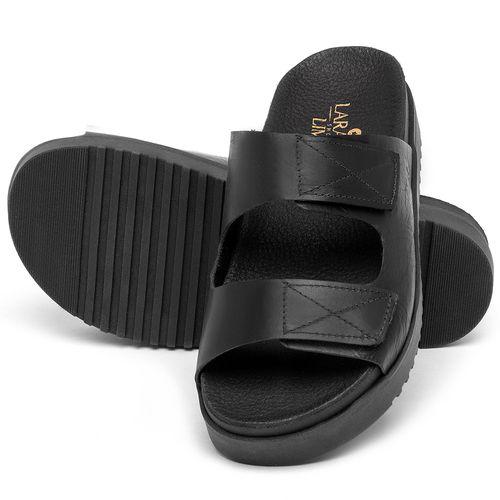 Laranja_Lima_Shoes_Sapatos_Femininos_Sandalia_Rasteira_Flat_em_Couro_Preto_-_Codigo_-_137363_2