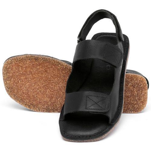 Laranja_Lima_Shoes_Sapatos_Femininos_Sandalia_Rasteira_Flat_em_Couro_Preto_-_Codigo_-_141208_2