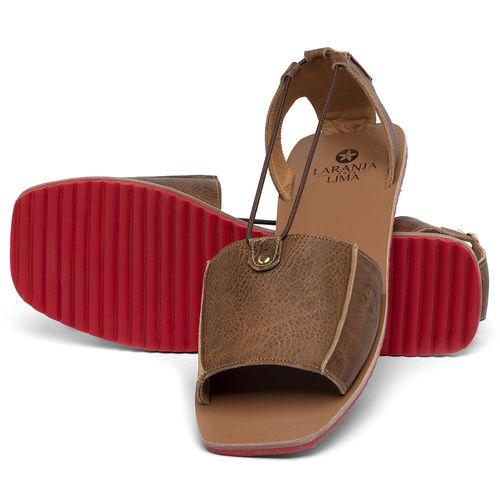 Laranja_Lima_Shoes_Sapatos_Femininos_Sandalia_Rasteira_Flat_em_Couro_Marrom_-_Codigo_-_3761_2